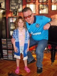 Олег Кваша с дочкой